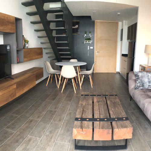 contemporary loft travel theme