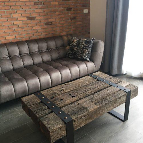 railway wood bespoke coffee table