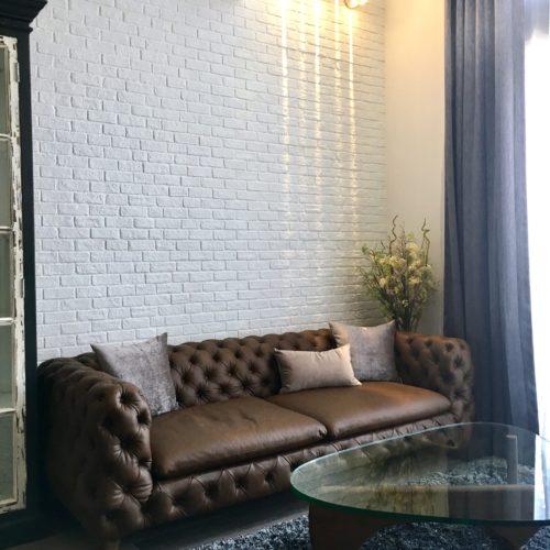 contemporary loft leather sofa