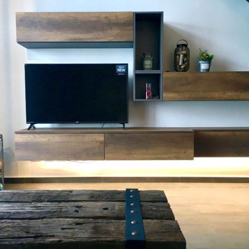 contemporary loft wooden console