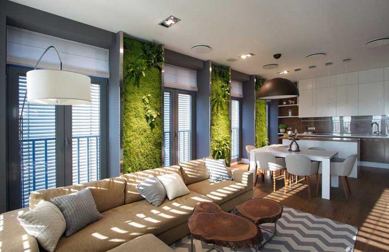 Living room vertical garden