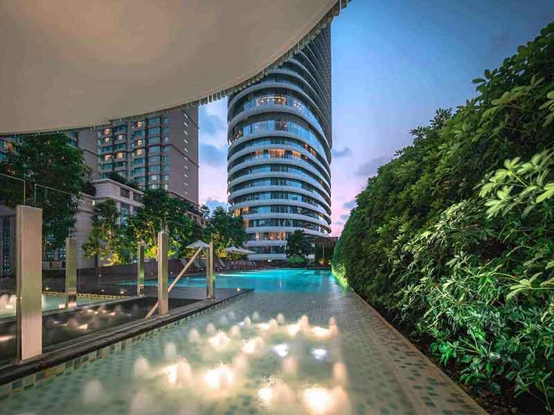Vertical garden in Bangkok